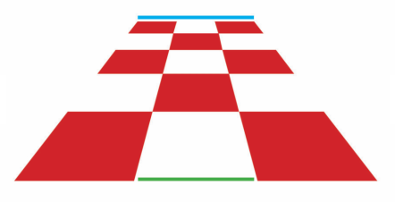 Size is an optical illusion fabricated in the brain. But in an illusion nothing works work out right. The strict law of perspective tells your brain that the blue line at the far back stretches longer than the green line at the front. But if you remove the checkerboard, the two lines are the same length.