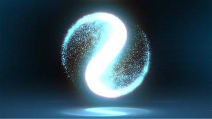 The bliss of the empty breath may be felt like an intangible yin-yang sign