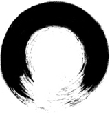 The endings of an uncompleted black hole literally look like zen brush strokes.The graphic is grabbed from the web.