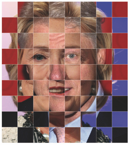 The brain is programmed to extract, what you are conditioned to consider a whole image from bits and pieces of visual information, and therefore you may see both Bill and Hillary Clinton in the above picture puzzle.
